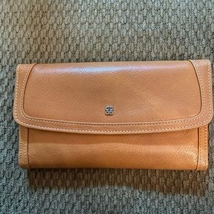 Bosca Old Leather Large Checkbook Clutch Wallet